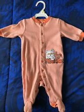 Carters Halloween one piece sleep and play Size 3 months with embroided