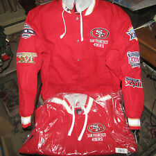 "NFL SAN FRANCISCO 49ers ""5"" time SUPER BOWL Cross Training Glory Jacket by Glll"