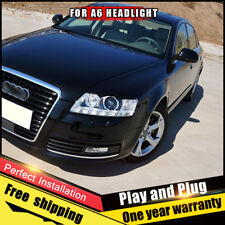 For Audi a6 Headlights assembly Bi-Xenon Lens Double Beam HID KIT 2005-2011