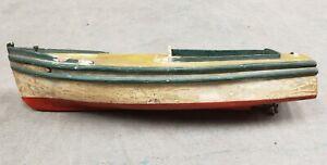 "Circa 1920 American Folk Art ""Ethel"" Pond Boat Speedboat Model"