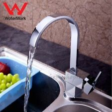 Square Chrome Waterfall Swivel Kitchen Sink Mixer Tap Vessel Faucet for Hot Cold