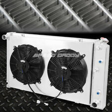 FOR 85-16 BUICK/CHEVY/PONTIAC/CADILLAC 3-ROW ALUMINUM RACING RADIATOR+FAN SHROUD