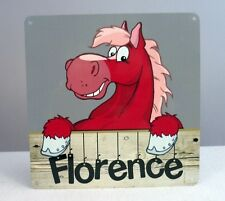 Personalised Horse Pony Stable Door Metal Sign Name Plate Plaque Tack Room