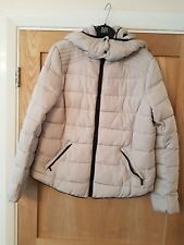 mango grey quilted hooded jacket size large worn once