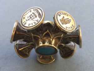ANTIQUE Vintage Victorian 19th CENTURY MULTI SEAL.9 SEALS.mottos,bee,stag,ship..