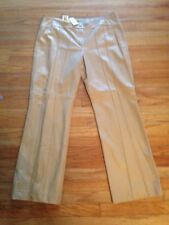 ESCADA BAIGE LADIES SOFT LEATHER LAMMNAPPA PANTS SIZE 14 NEW $2.200.