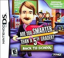 BRAND NEW Are You Smarter Than A 5th Grader? Back to School (DS)