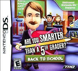 ARE YOU SMARTER THAN A 5TH GRADER BACK TO SCHOOL FOR NINTENDO DS FACTORY SEALED!