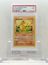 POKEMON 1999 Base Set 1st Edition CHARMANDER #46/102 Shadowless Card PSA 9 Mint