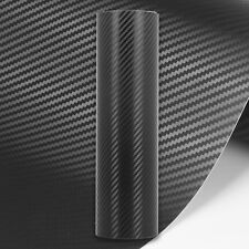 3D Carbon Fibre Vinyl Wrap // MATTE GLOSS BLACK // Bubble/Air Free // All Sizes