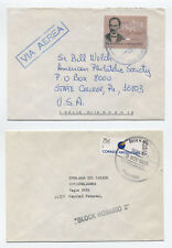 Group of 4 1990s Argentina covers including flowers, Malvinas wildlife [L.292]