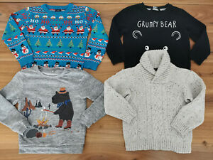 boys 4-5 years bundle autumn winter jumpers Next M&S George