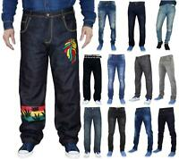 Mens Denim Jeans Designer Branded Regular Skinny Slim Pants Trousers All Waist