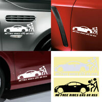 Car Window Funny Sticker Waterproof Truck Bumper Decal No Free Rides Gas Or Ass