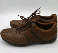 Born Mens 8.5M Brown Leather Bicycle Toe Lace up Casual Shoes