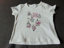 Benetton 100%Cotton S/Sleeved 'Sing A Song' T-Shirt 6-9m 68cm Cream Mix BNWoT