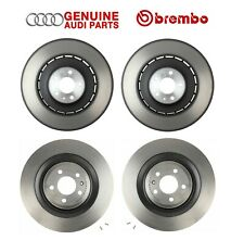 For Audi S6 S7 S8 Front and Rear Left & Right Vented Disc Brake Rotors Kit