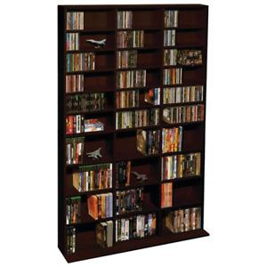 Atlantic Oskar Adjustable Wood Media Storage Shelf Bookcase, multiple sizes