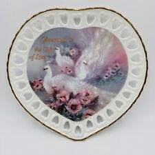 Bradford Exchange Plate Peacock Bird Is The Gift Wings of Love No 341A