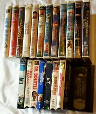 Huge lot of 20 Children's & Family Movies VHS Cartoons Wholesale Popular