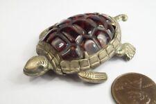 More details for antique english nickel plated turtle tortoise novelty match safe / vesta case