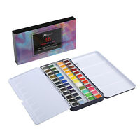 1 MEEDEN Art Watercolor Tin Palette Paint Set with 48 Colors Half Pan Paints NEW