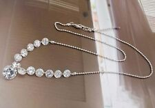 White Gold Plated made with AAA Zircon Shiny Necklace