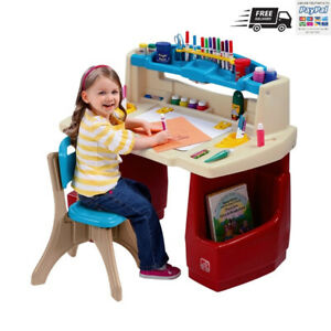 STEP 2 DELUXE ART - COLOURİNG - ACTİVİTY DESK WİTH A CHAİR, FOR A CHİLDREN'S✅