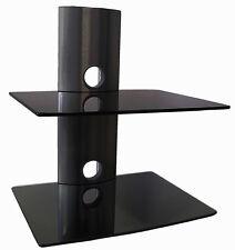 Glasregal DVD Blu-Ray Player Spielkonsole TV Receiver Halter Glas Rack schwarz