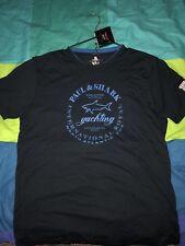 Paul&Shark Yachting  Mens Blue Italian Polo T-Shirt Sz L