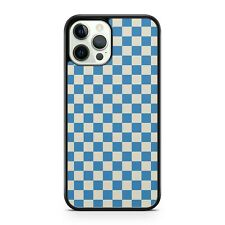 Blue Mixed White Coloured Marvellous Check Squares Checkered Phone Case Cover