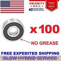 Wholesale Lot 100 Bearing 608 rubber seal 8x22 mm Metric Ball Bearings no grease