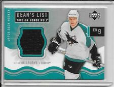 03-04 Honor Roll Milan Michalek Dean's List Rookie Jersey # 170