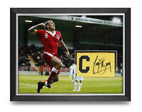 Craig Bellamy Signed Armband Photo Framed 16x12 Wales Autograph Memorabilia COA
