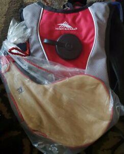 Hydration Backpack High Sierra Soaker 50 1.5L + Leather BOTA WINE BAG NEW