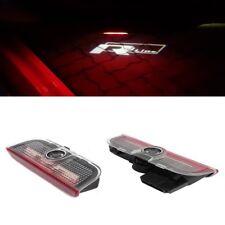 2X R LINE Led Light Door Projector Welcome Logo HD For GOLF MK5 MK6 MK7 R32 CC