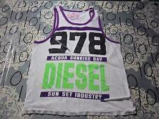 Large- Womens Damaged Tank Top / Diesel Brand T- Shirt