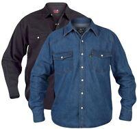 Mens Quality Duke Western Denim Shirt S - XXL