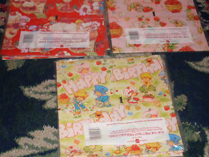 Vintage Retro NEW NOS Strawberry Shortcake Wrapping Paper U Pick gift wrap pets
