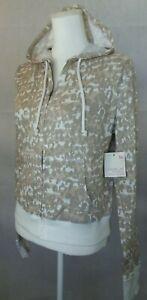 New SO LOUNG LIFE SWEATSHIRT zip hoodie medium tan thumbholes nwt