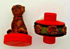 onka Pound Puppies stamp & STAMPTRAY rolling paw stamp vintage