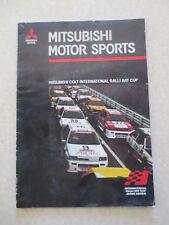 1985 Mitsubishi Colt International Ralli Art Cup promotional booklet