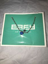 Effy Blue Stone Necklace Charm NEW Necklace Nickel Free Carnival Cruise