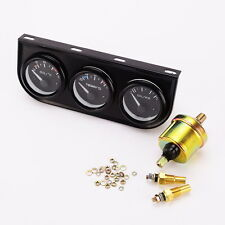 "12V 2.""/52mm Triple Gauge Kit 3in1 Oil Temp Water Temp Oil Pressure Car Meter"