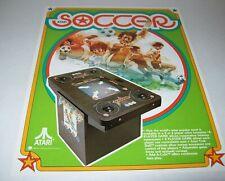 Atari Soccer Arcade FLYER Original Video Game Paper Artwork Sheet 1979 Sports