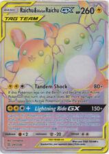 Raichu & Alolan Raichu GX 241/236 Rainbow Rare Pokemon Card (SM11 Unified Minds)