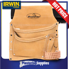 Irwin Rooster Tool Pouch Bag 5 Pocket Split Leather REI-223-610-4