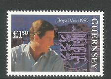 Guernsey 1995 Prince of Wales Visit-Attractive Topical (558) Mnh