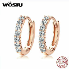 925 Sterling Silver Earrings Rose Gold Women Fashion Jewelry With Zircon Gifts