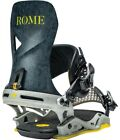 Rome Vice Snowboard Bindings, Mens Size L/XL (US 10+5), Grey Lines New 2021